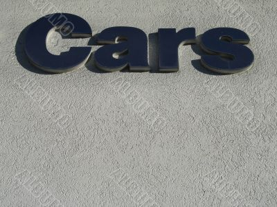 blue cars sign