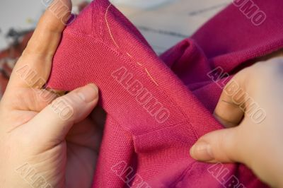 Thread on cloth