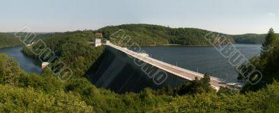 reservoir Rappbodestausee in the Harz mountains