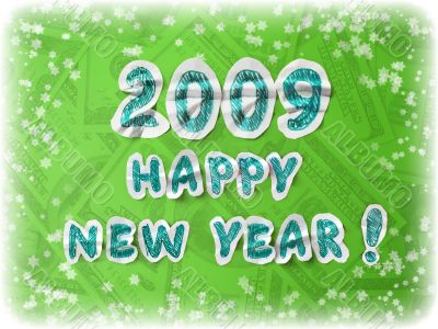 happy new year congratulation card
