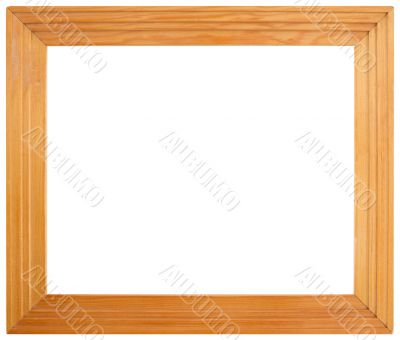 Simple wooden frame on white