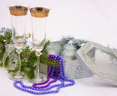 New Year`s still-life