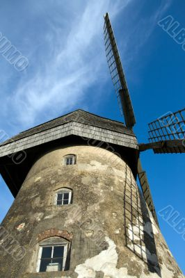 Traditional dutch windmill in Latvia