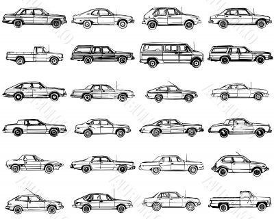 llustrations of the cars