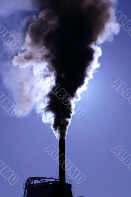 Smoke pollution pipe