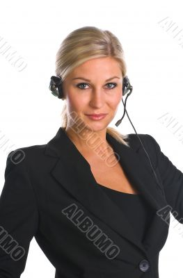 business woman phoned