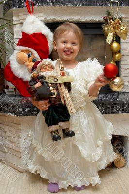 Xmas Child with Santa Claus