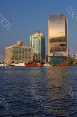 View on quay of Dubai