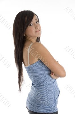 beautiful teen with folded hands