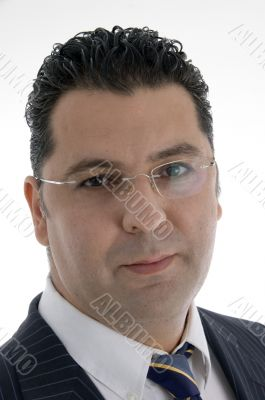 caucasian businessman with eyewear
