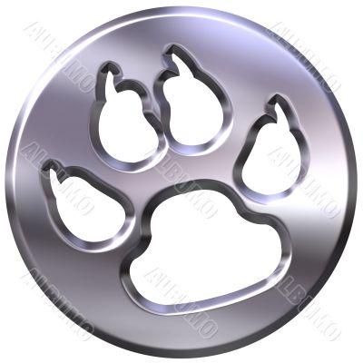 3D Silver Framed Dog Print