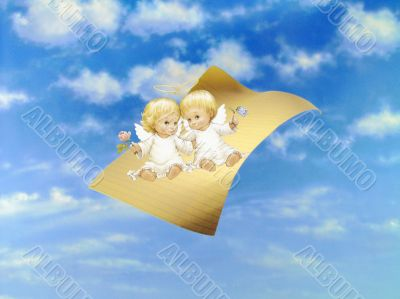 Angels On The Flying Paper