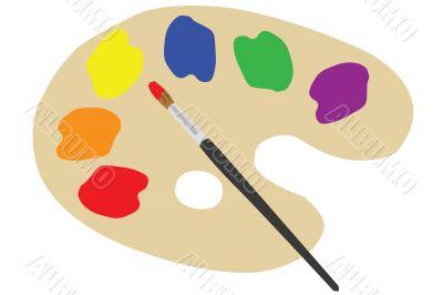 Painter`s palette