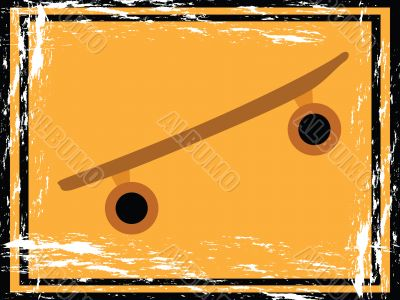 Grunge skateboard sign