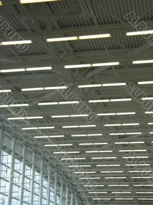 a large and white modern interior ceiling