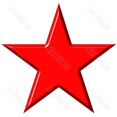 3D Cummunist Red Star