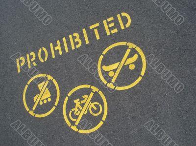 no cycling or skating