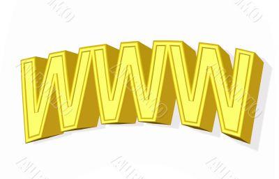 3D golden www simbol