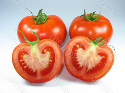 sliced fresh red tomato