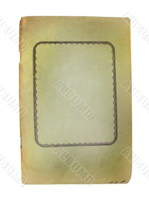 old vintage notebook with empty space for text or image isolated