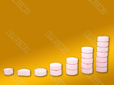 Ladder from pharmaceutical drugs over a gradient background