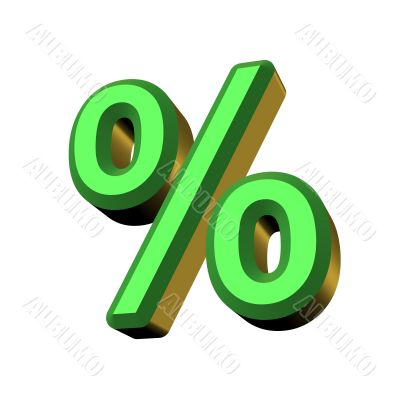 3D percent character