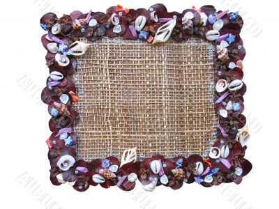 art frame with Cockle shells pattern on canvas