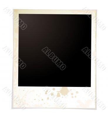 grunge plain polaroid
