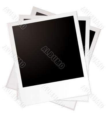 plain polaroid pile