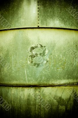The Number Eight on a Grain Silo