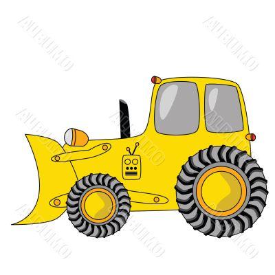 Cartoon bulldozer