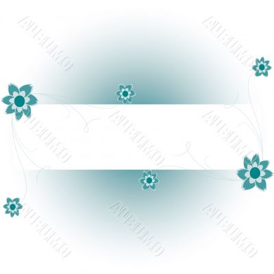 Floral background with a frame for a text.