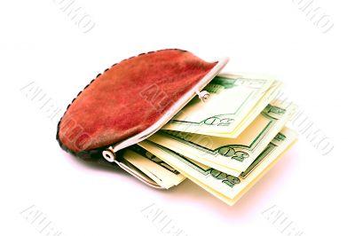 Purse full of dollars