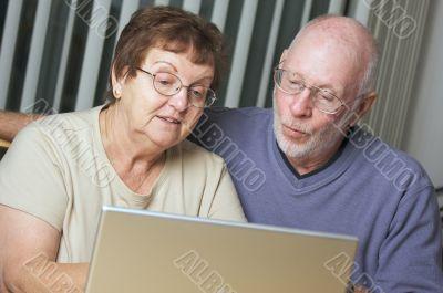 Senior Adults on Laptop Computer