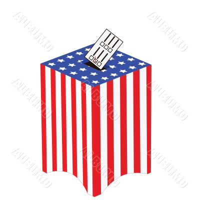 United States ballot box