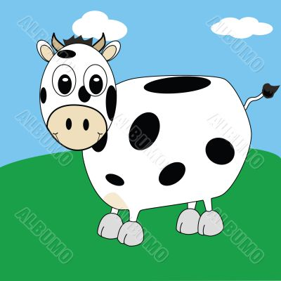 Cartoon cow 2