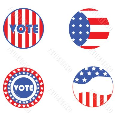 USA election buttons