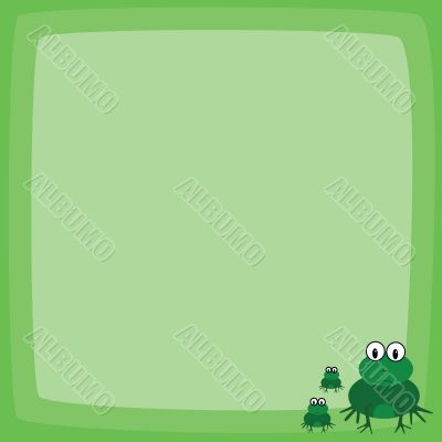 Cartoon frog page layout