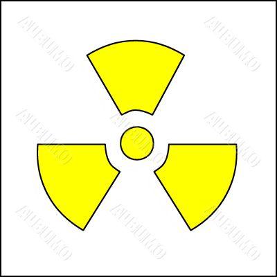 Symbol of radiating pollution