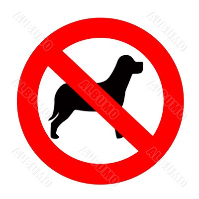 Walk with a dog is forbidden