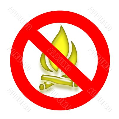 To burn down a fire it is forbidden 2