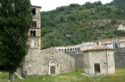 Antrodoco, medieval church in Romanesque style