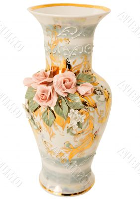 Vase on white
