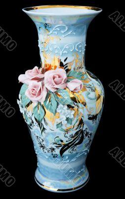 Vase on black