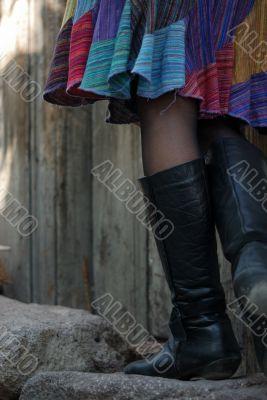 beautiful legs with black stocking