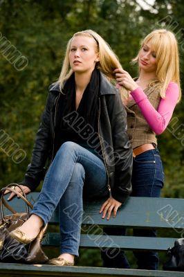 Sisters hairdo