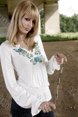 Paris Hilton look-a-like fashion shoot looking bored