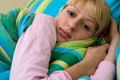 Paris Hilton look-a-like waking up