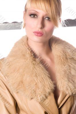 Portrait of Paris Hilton lookalike