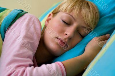 Paris Hilton look-a-like sleeping